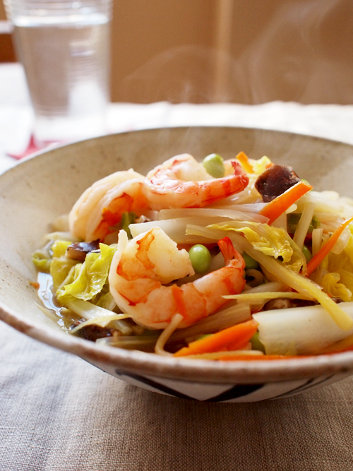 Shrimp & Vegetable Soup Noodle