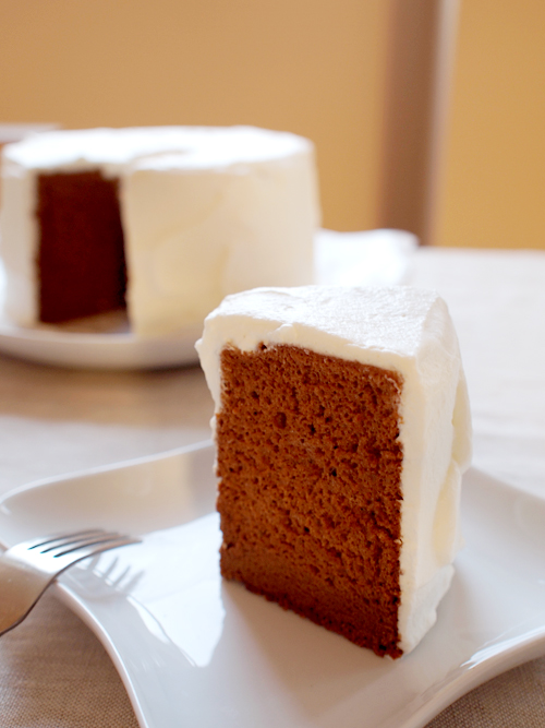 Chocolate Caramel Chiffon Cake