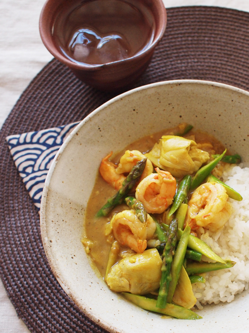 Coconut Milk Shrimp Curry